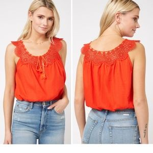 Free People Clover Croft Crochet Camisole